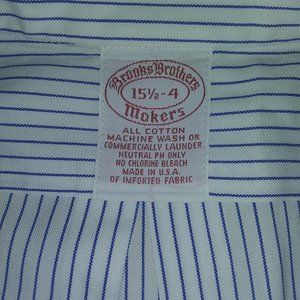 BROOKS BROTHERS COTTON DRESS SHIRT PINSTRIPE 151/2